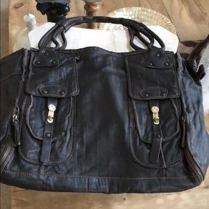 Ellen Tracy soft leather tote